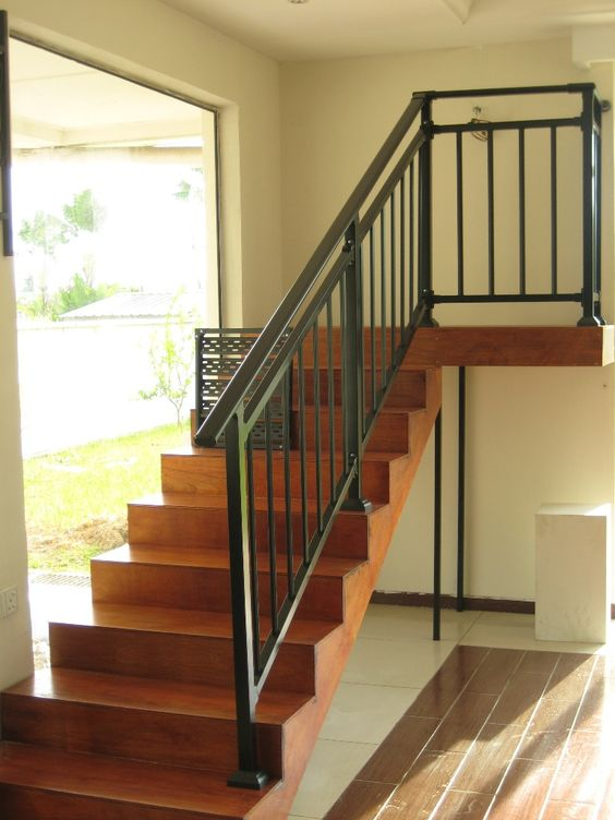 Best Iron Stair Railing Wooden Staircases And Railing Design 400 x 300