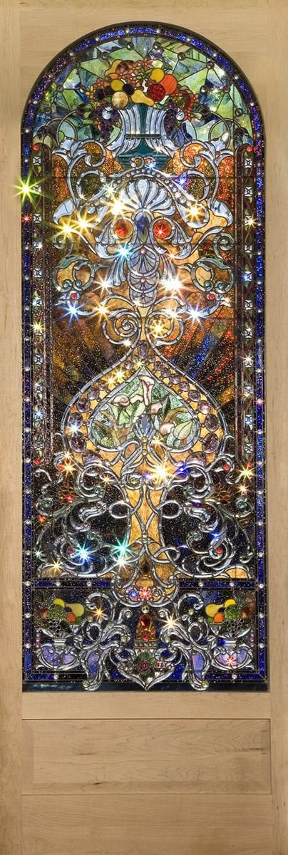 Stained Glass 11 feet tall - it has almost 1,000 custom bevels