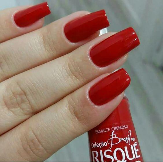 Unhas vermelhas Red Esmalte lindo cor linda