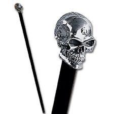 Sterling Silver The Alchemist Skull Handle Beech Cane Walking Stick Alchemy