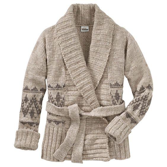 KAFÉ STIGUR Jacquard-Strickjacke  #conleys #winter