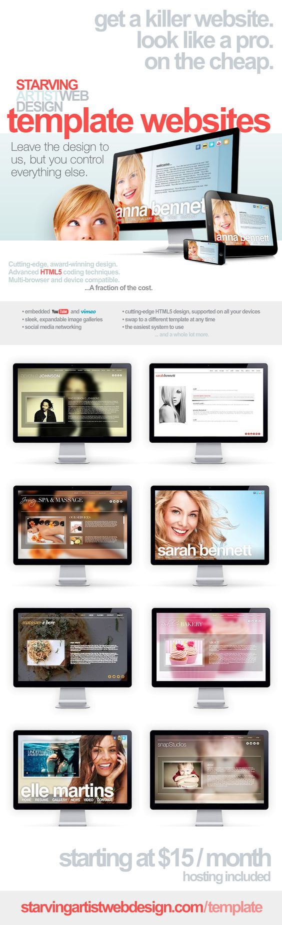 Template Websites from Starving Artist Web Design