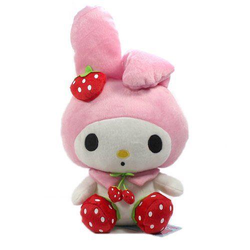 Furyu Official Sanrio My Melody Red Strawberry Big Plush – 13″ Pink: Melody Plushes, Hello Kitty Sanrio, Mm Plush, Kawaii Plush, Official Sanrio, Melody Red, Big Plush