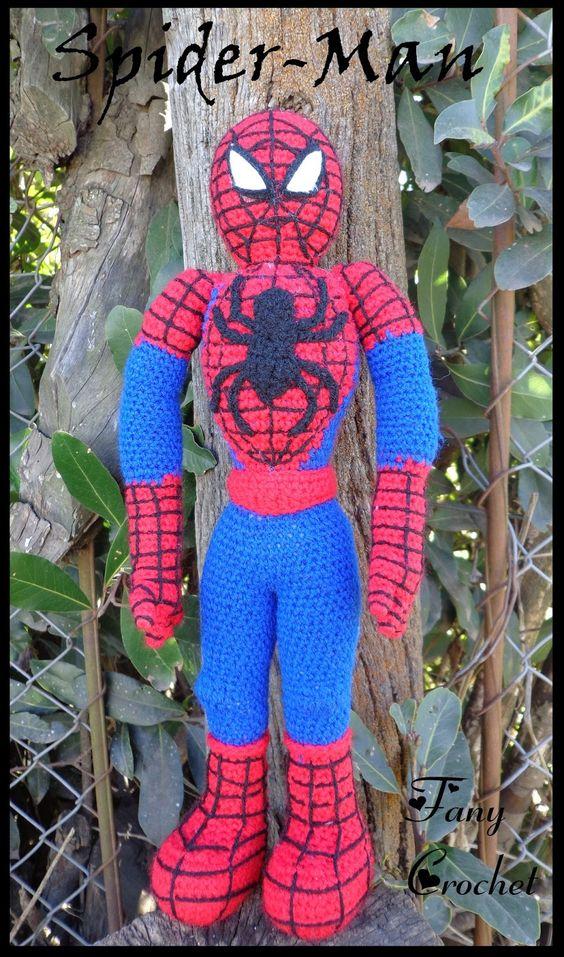 Crochet, Patrones and Spiderman on Pinterest