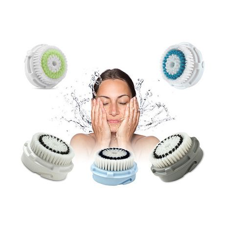 2-Pack: Clarisonic-Compatible Brush Heads for Face & Body - Assorted Styles at 80% Savings off Retail!