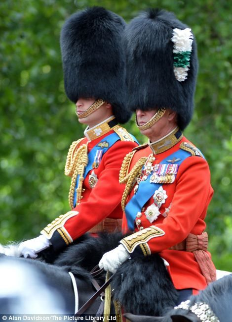 Prince William and his father Prince Charles took part in the ceremony as the Queen watched on