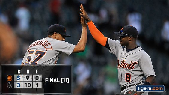 Photo: Justin Upton stays hot and Justin Verlander shines as the Tigers win in extras. http://atmlb.com/2c6Qqbq