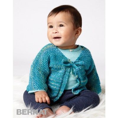 Free Easy Baby Cardigan Knit Pattern | knitting for baby | Pinterest ...