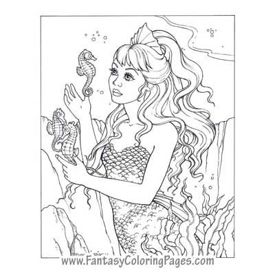 Fantasy Coloring Pages – World's Best Coloring Pages - Mermaids, Angels, Fairies and so much more.: