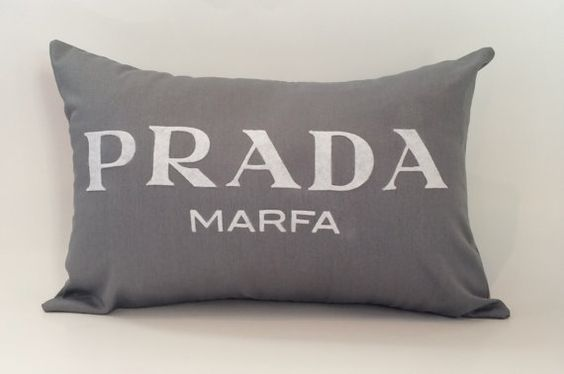 18 x12 prada marfa pillow cover