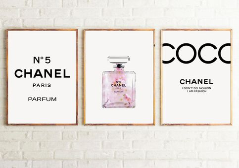 Set Of 3 Inspired Coco Chanel Art Prints Chanel Prints Fashion Posters Chanel Set Chanel Decor Chanel Print Set 210 Home Quotes And Sayings Chanel Art Print Wall Art Quotes