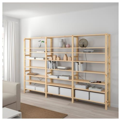 Ikea Ivar Pine 2 Section Shelving Unit With Chest In 2019 Ikea Shelves Cube Storage Unit