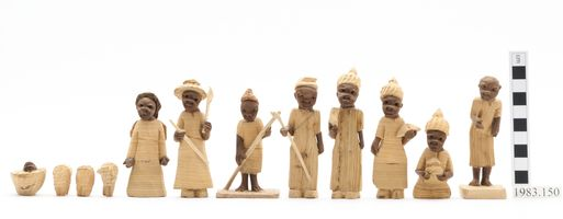 Set of carved #nativity figures from #Nigeria. Object no. 1983.150 http://www.horniman.ac.uk/object/1983.150 #Horniman #Museum #Christmas