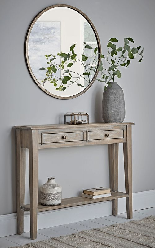 Hone New Camille Console Table Limewash Narrow Console Table Perfect For Placing Behind In 2020 Entryway Console Table Hallway Table Decor Console Table Decorating
