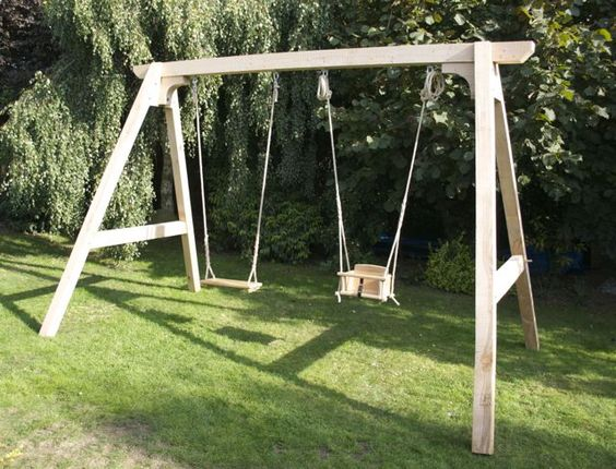 Outdoor swing for adults buscar con google swing for Diy adult swing set