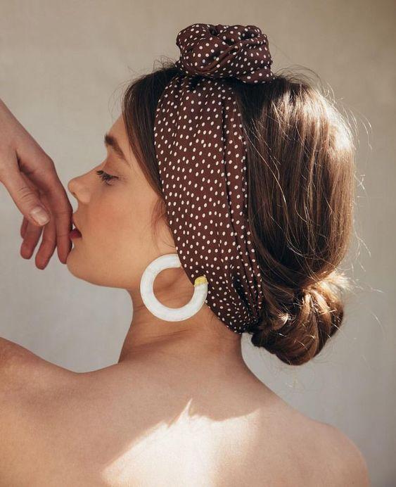 head wrap & big earrings