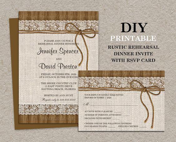 Rustic Rehearsal Dinners Rehearsal Dinner Invitations And Dinner Invitations