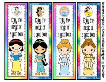 themed bookmarks 8 designs disney disney princess and bookmarks