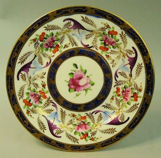 ANTIQUE COALPORT HAND PAINTED PORCELAIN CABINET PLATE C.1825