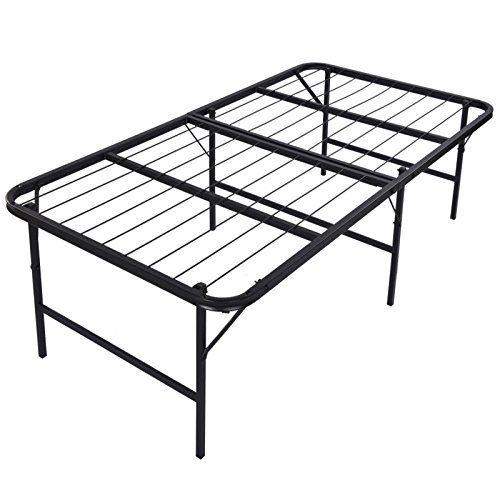 Foldable Platform Steel Bed Frame Simple Base Bi Folding Bed