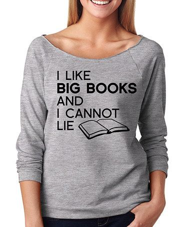 Look what I found on #zulily! Gray 'I Like Big Books' Tee #zulilyfinds