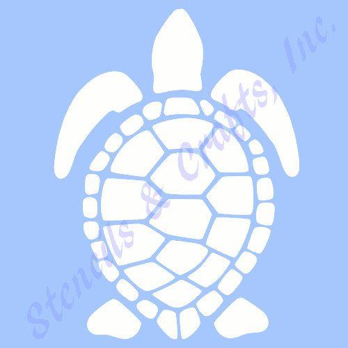 7.5 TURTLE STENCIL TEMPLATE sea beach ocean sealife by sunflower33