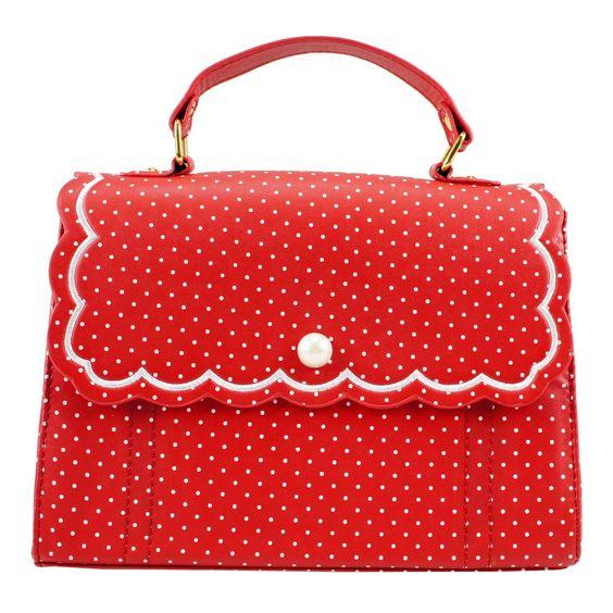 Gossipi Schultertasche SWEET POLKA DOTS red: Amazon.de: Schuhe & Handtaschen:
