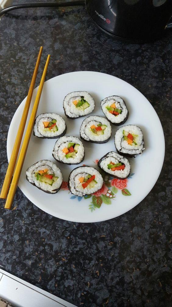 Veggie Sushi Rolls🍚🌱 See my blog post on a full pictorial step by step guide (link is in bio) 💕💕 🔸Homemade Veggie Sushi Rolls  http://wp.me/p7Bj0v-4w 🔸Blog:  https://abengalivegan.wordpress.com #vegan #plantbased #veganfood #whatveganseat #veganfoodshare #veggies #veganlife #sushi #vegansofinstagram #vegansofig #healthy #healthyfood #cleaneating #eatclean #cleanfood #eathealthy #yummy #delicious #food #foodpics #foodstagram #foodblogger #healthylifestyle #healthyeating #healthyliving…