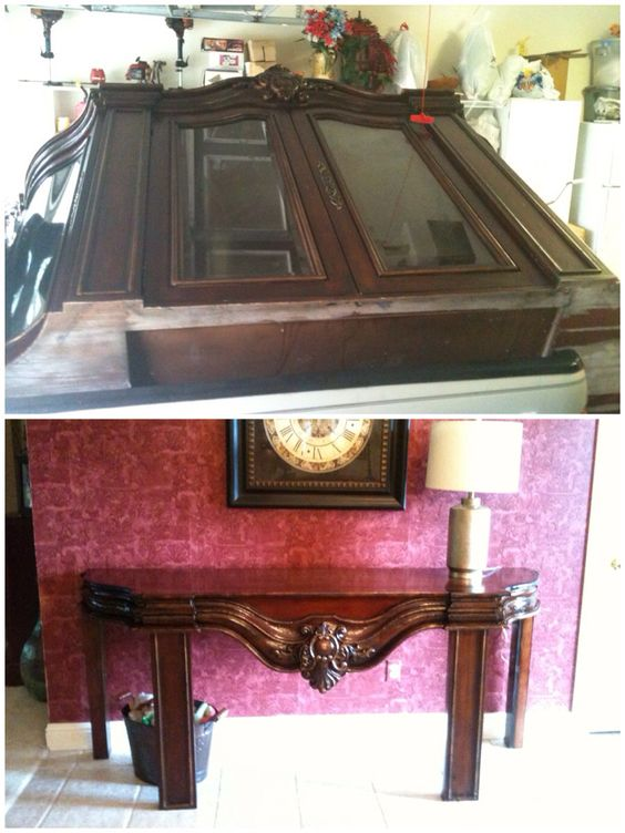 Found this on the curb. The first project from it is an entryway table. More projects to come with the 4 glass doors, and 3 mirrors that were also salvaged.