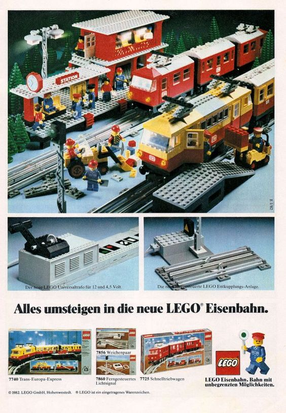 Lego City train set ad (1982)