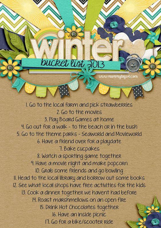 Australian Winter Bucket List 2013
