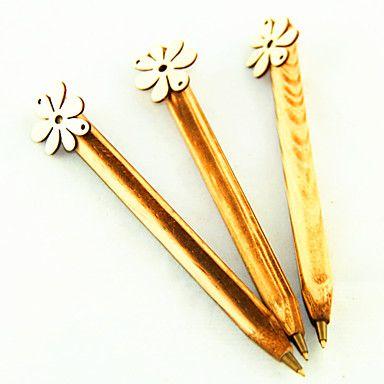 Sete Pétalas da tinta azul caneta esferográfica de madeira