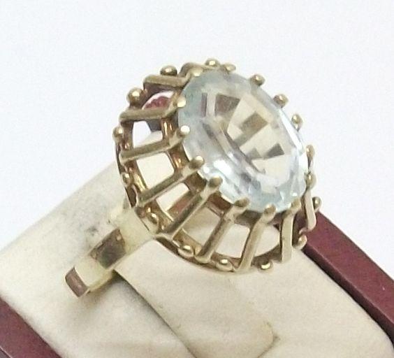 Vintage Ringe - 585er Goldring Spinell Edelstein Antik 17,8 GR103 - ein…