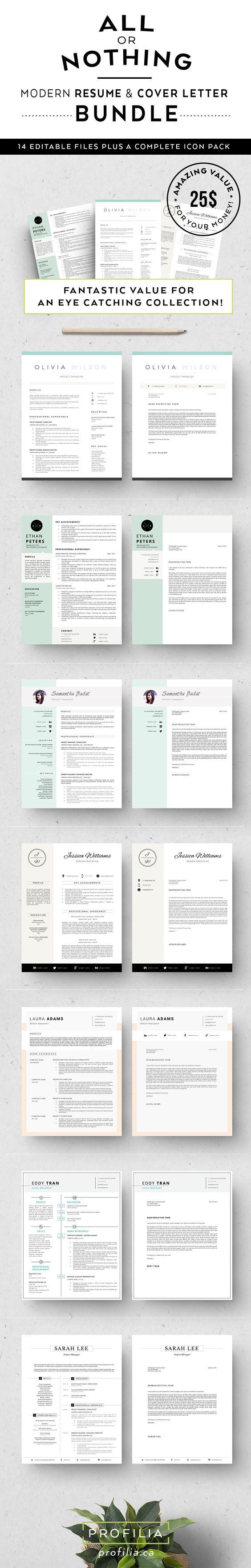 bundle resume letter templates