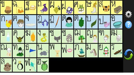 Thai Alphabet Complete -Lite- screenshot prek - 6 Hmong Laos - thai alphabet chart