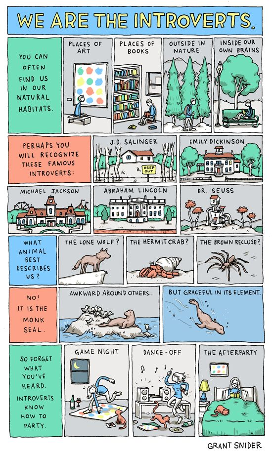 """We Are the Introverts"" von Grant Snider"