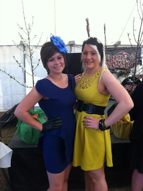 Mysty and Kirby wearing Tiny Dancer at Dalby races