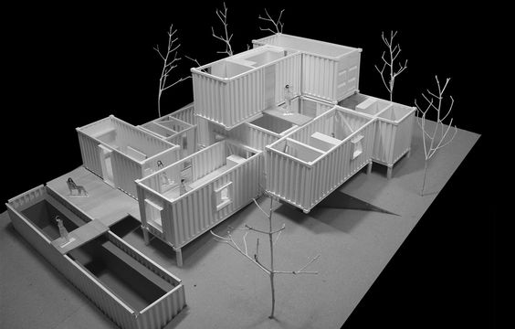archimodels:  © void- container house competition - 2014