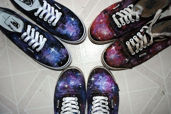 My Vans are trashed, but i don't want to throw them away quite yet. I think some paint could spiffy them up. Look how amazing these are!