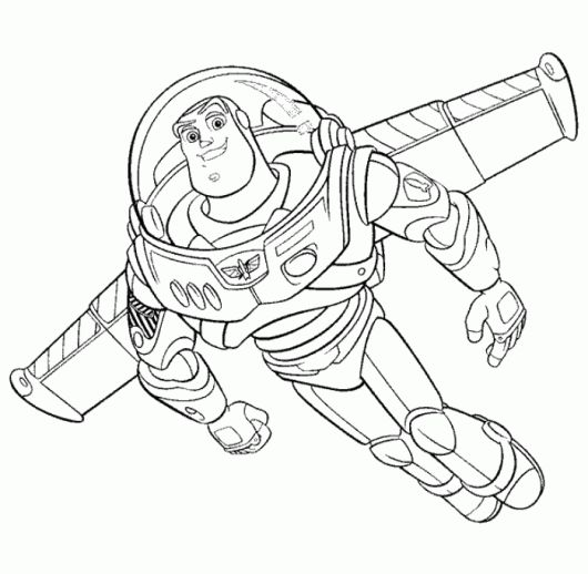 toy story buzzlightyear flying coloring page | Toy story ...