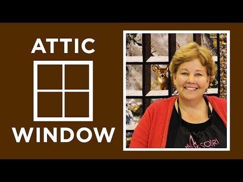 Ático de Windows edredón con un Panel | Siempre genial, siempre gratis acolchar Tutoriales