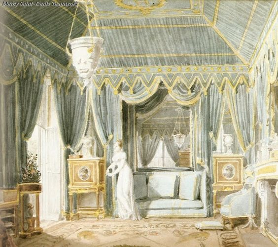 Queen Hortenses Tented Boudoir Paris 1811.