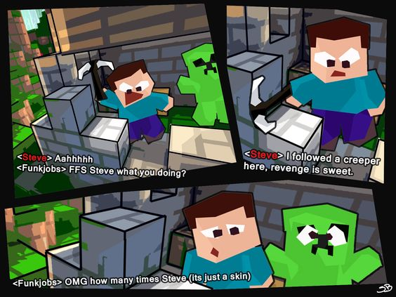 Minecraft Bored Steve Grief Creeper Skin Minecraft Minecraft Comics Minecraft Steve