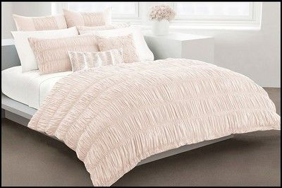 Willow Twin Duvet Cover Blush Pink Blush Colored Ruched