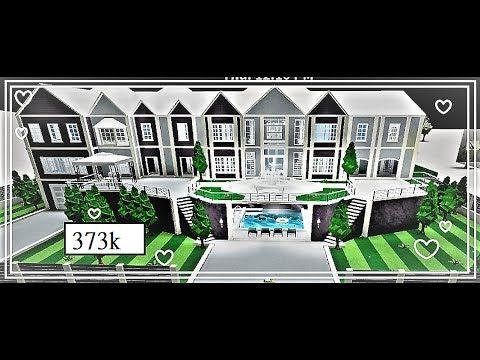 Huge Modern Aesthetic Mansion 373k Ii Bloxburg Speedbuild Youtube In 2020 Mansion Plans Two Story House Design Mansions