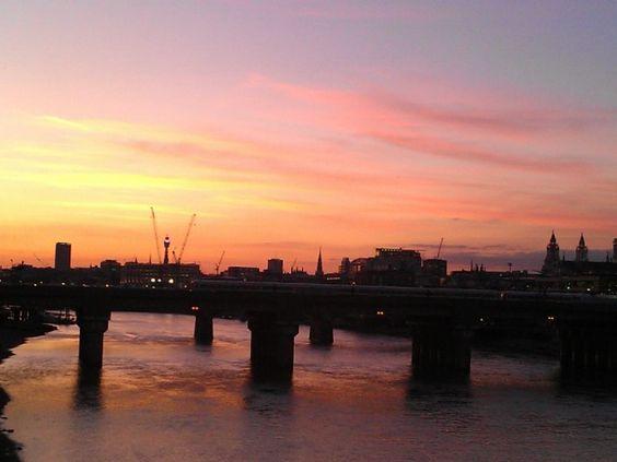 Por do sol em Londres - Millenium Bridge