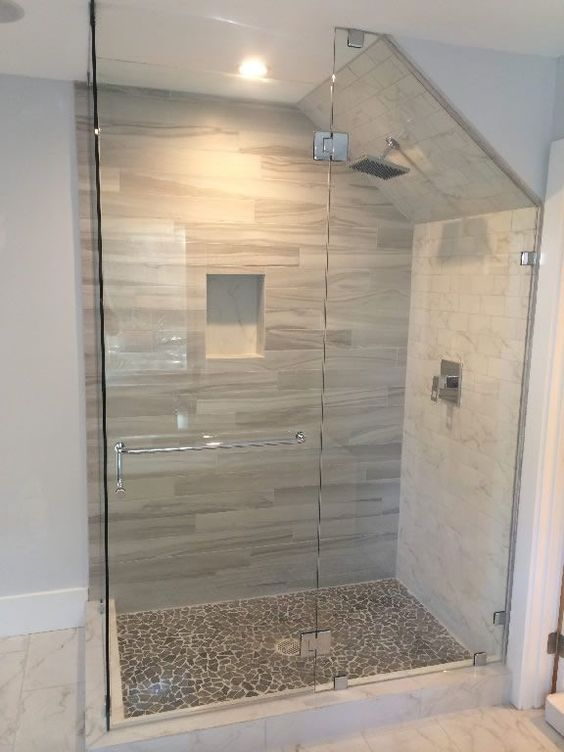 Tiles In Angled Ceiling Google Search Sloped Ceiling Bathroom Bathroom Style Loft Bathroom