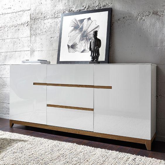 buffet scandinave blanc laque matri d co pinterest design and buffet. Black Bedroom Furniture Sets. Home Design Ideas