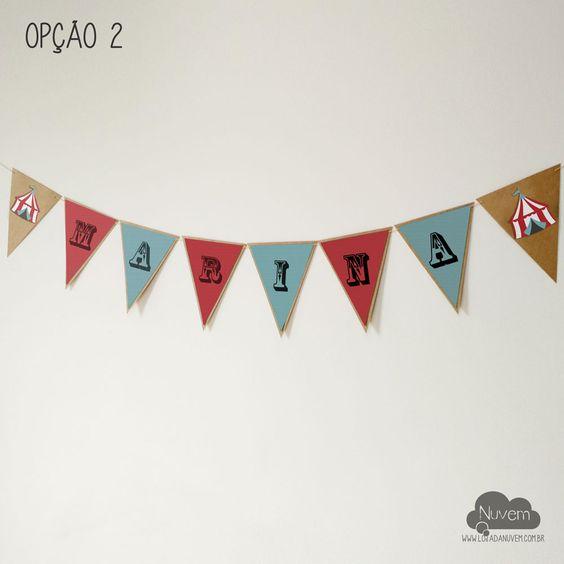 Painel / Bandeirola de Parede - Circo