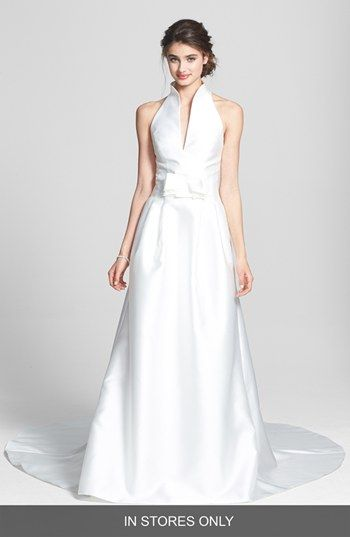 JESUS PEIRO Jesús Peiró 'Martina' Mikado Halter Dress (In Stores Only) available at #Nordstrom